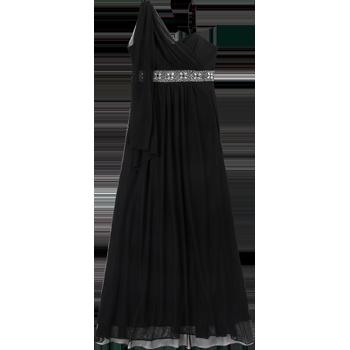 Nina Ferre Modelo 8829 Vestido Largo De Mesh Con Un Solo