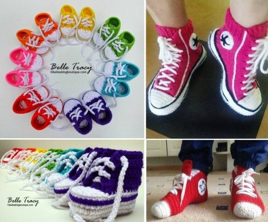 Crochet Sneakers Slippers Pattern The Best Collection | Patrones ...