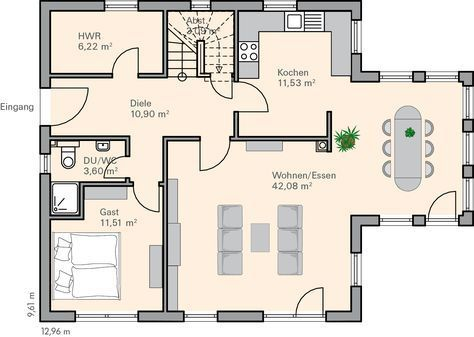 Das ist ein super Grundriss fürs Erdgeschoß! Mehr Ideas for the - plana küchen nürnberg
