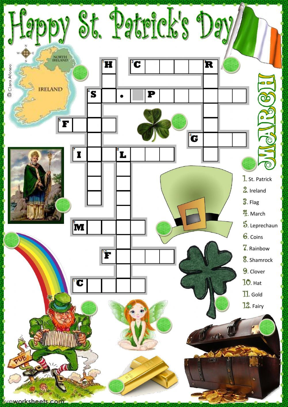 Saint Patrick S Day Interactive And Downloadable Worksheet You Can Do The Ex St Patricks Day Crafts For Kids St Patrick S Day Crafts St Patrick Day Activities