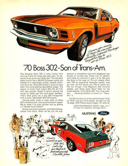Ford Mustang Boss 302 Model 1970