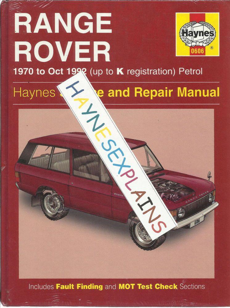 haynes new sealed range rover v8 service repair manual 4x4 3 5 rh pinterest com Overhaul Manuals Partner 750 land rover defender v8 service manual