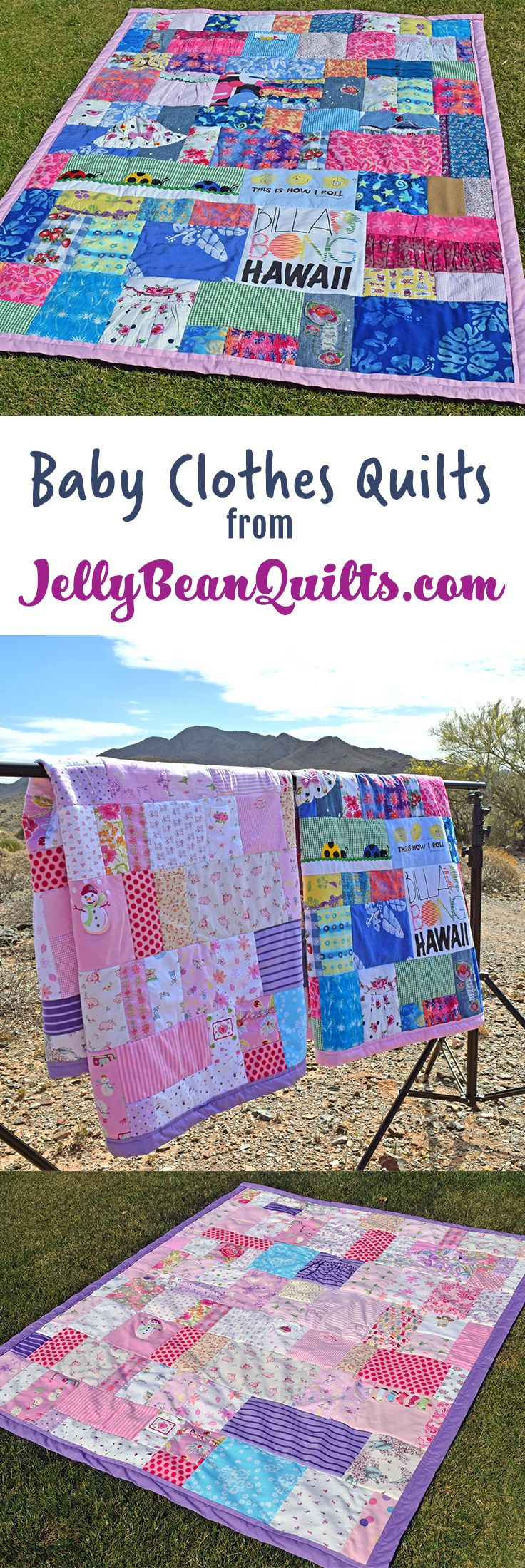Baby Clothes Quilts Made From Onesies From Jellybeanquilts