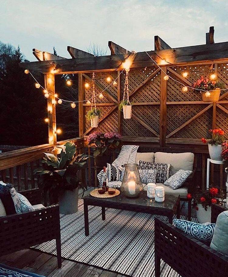 Outdoor Lighting Cafe Diseño De Terraza Decoracion