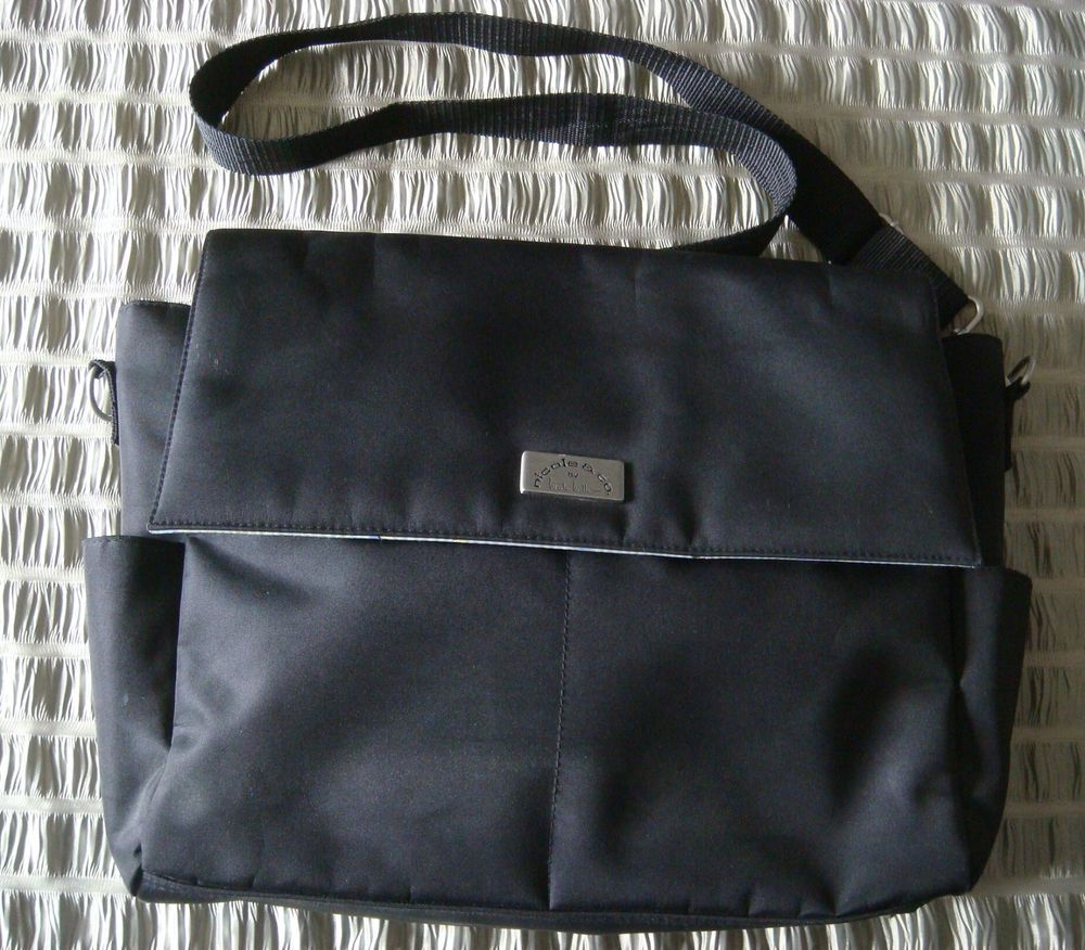 Nicole Co By Miller Black Diaper Bag Tote Excellent Condition
