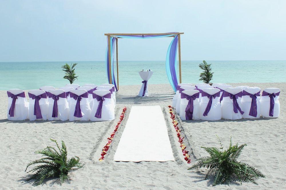 lavender silver beachfront wedding Google Search Beach