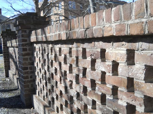 Lattice Garden Wall With Genuine Handmade Brick In Salisbury Nc