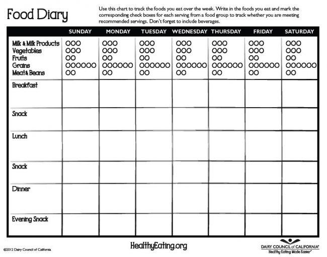 food diary genesta food diary food journal food log