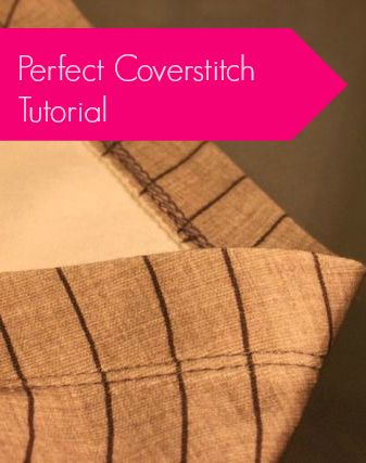 Perfect Coverstitch Tutorial: Cashmerette