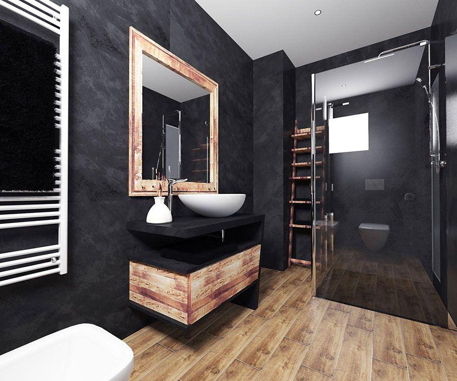 Bagni Neri Moderni 25 Foto Di Progetti Di Design Bagno Di