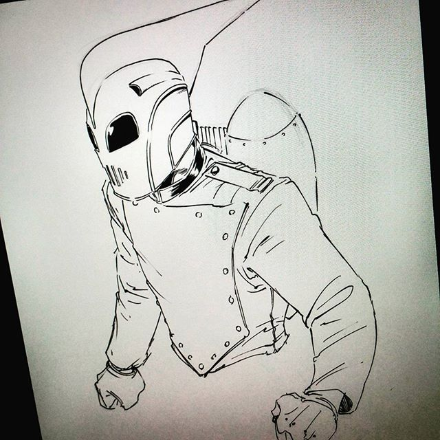 regram @jerkmonger From yesterday's Periscope session... #Rocketeer #therocketeer