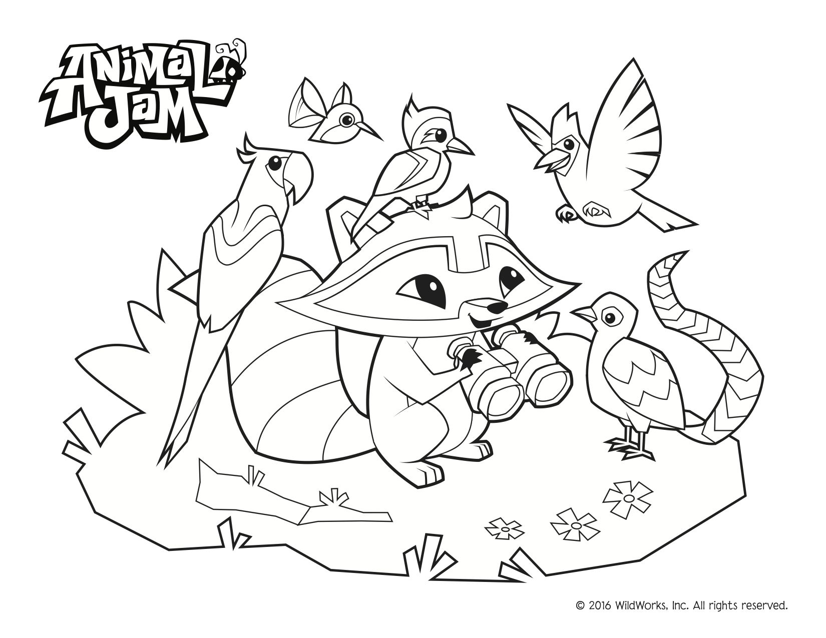 Coloring Pages Of Animal Jam