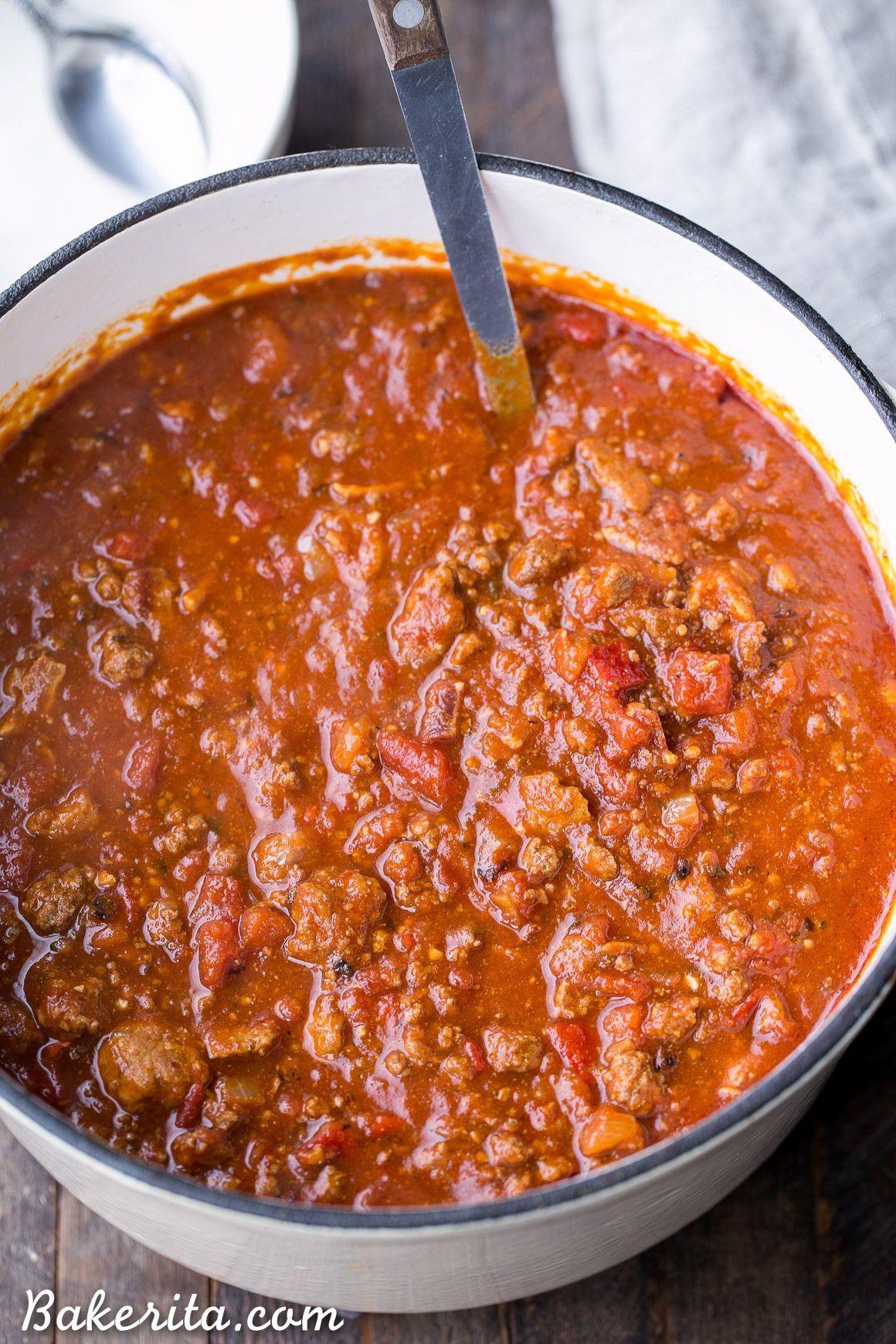 The Best Paleo Chili (Whole30 + Keto) • Bakerita #veggiechilirecipe