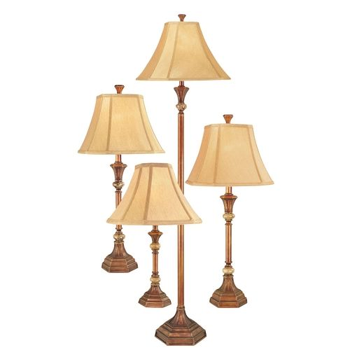 Design classics lighting traditional floor and table lamp 4 pack with marble accents dt4c5770s