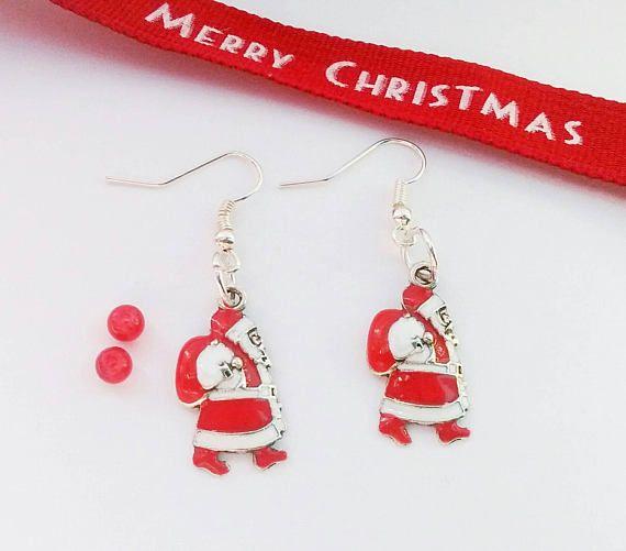 Santa Earrings, Father Christmas Earrings, Christmas Earrings ...