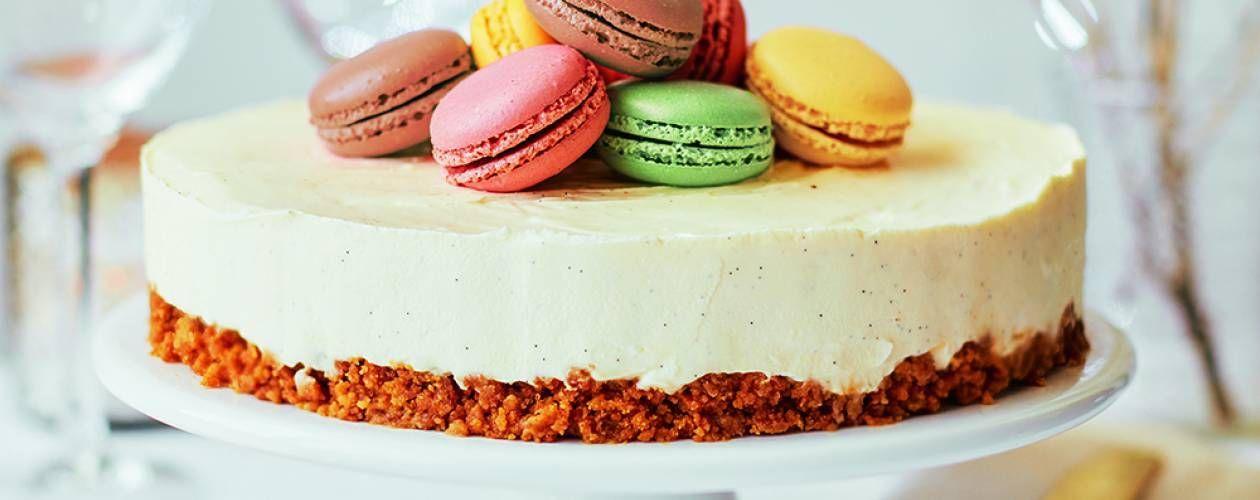Christmas Cheesecake Ideas.Christmas Cheesecake With Macarons