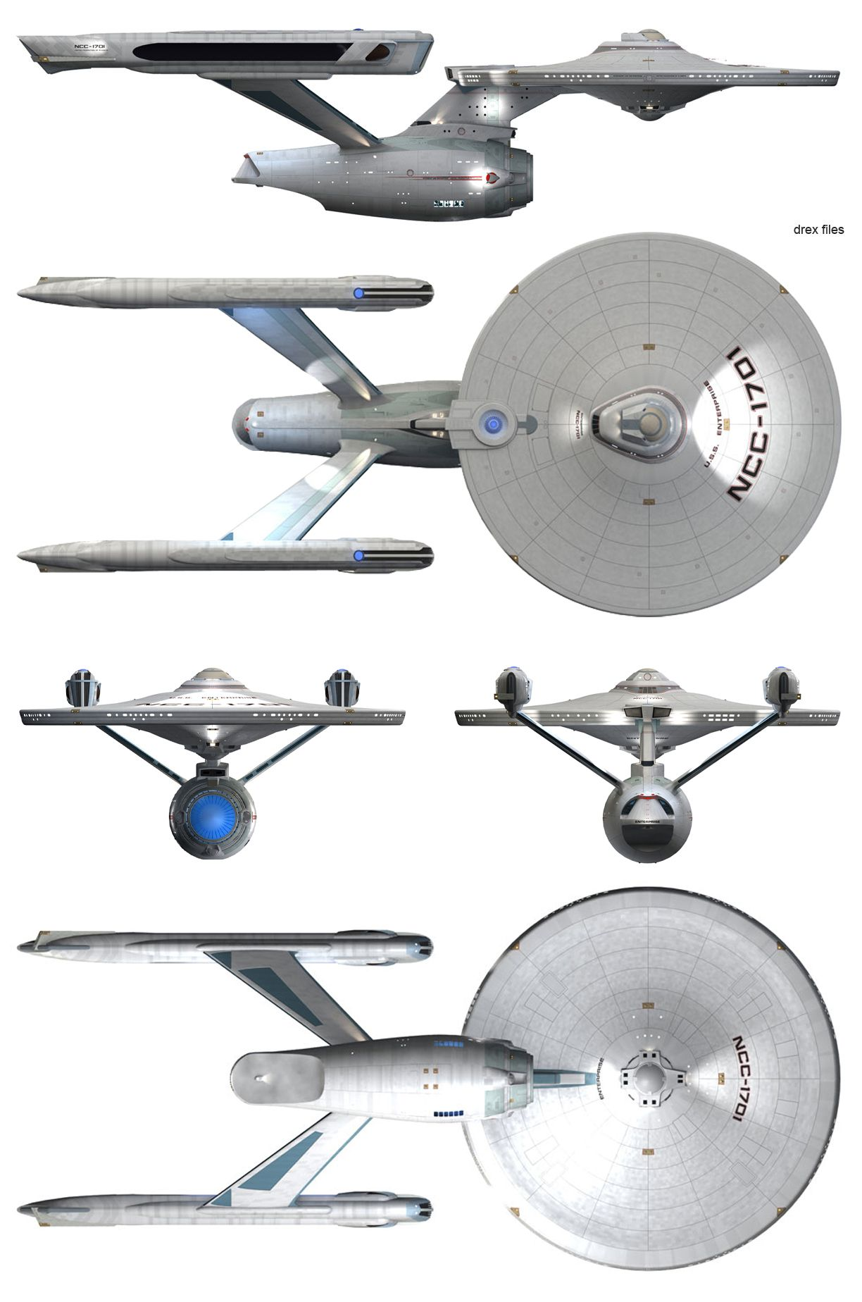 enterprise a schematics | Starship Schematic Database - U.F.P. and