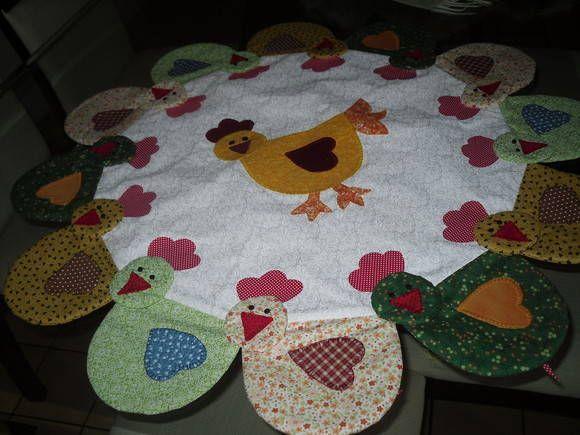 Centro de mesa em patchwork | Iza | Elo7