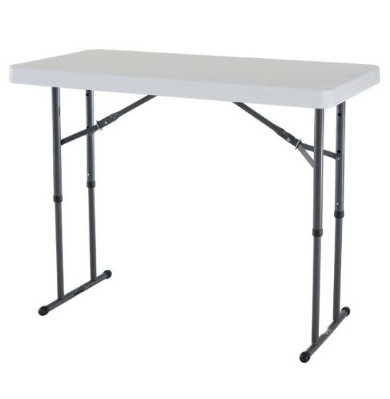 New Lifetime 4 Adjustable White Granite Folding Table Adjustable Height Table Folding Table Folding Table Legs