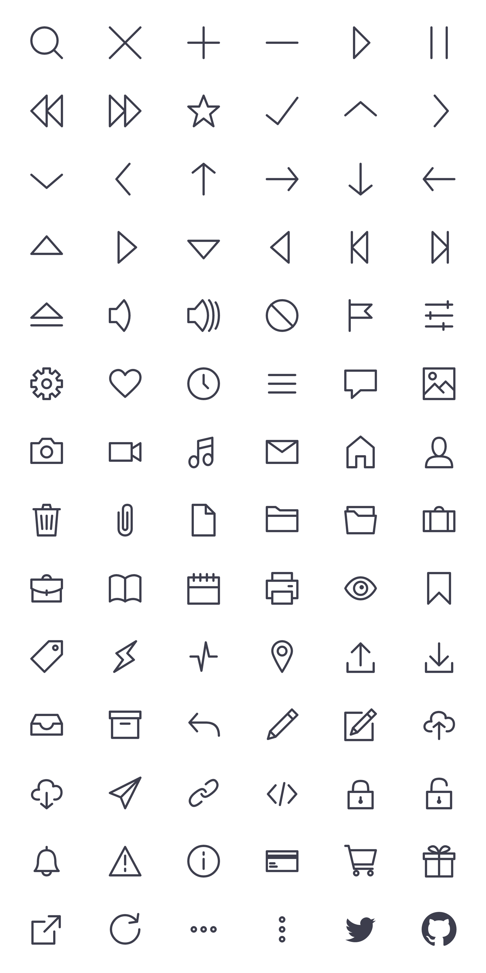 Bytesize Icons Tiny stylecontrolled SVG iconset Icon