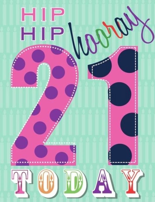 21st Birthday Happy Quotes Girl Cards