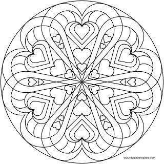 Heart Mandala to color Mandala Adult coloring and Mandalas