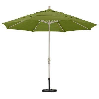 Aluminum Collar Tilt Double Vented Patio Umbrella In Ginkgo Pacifica