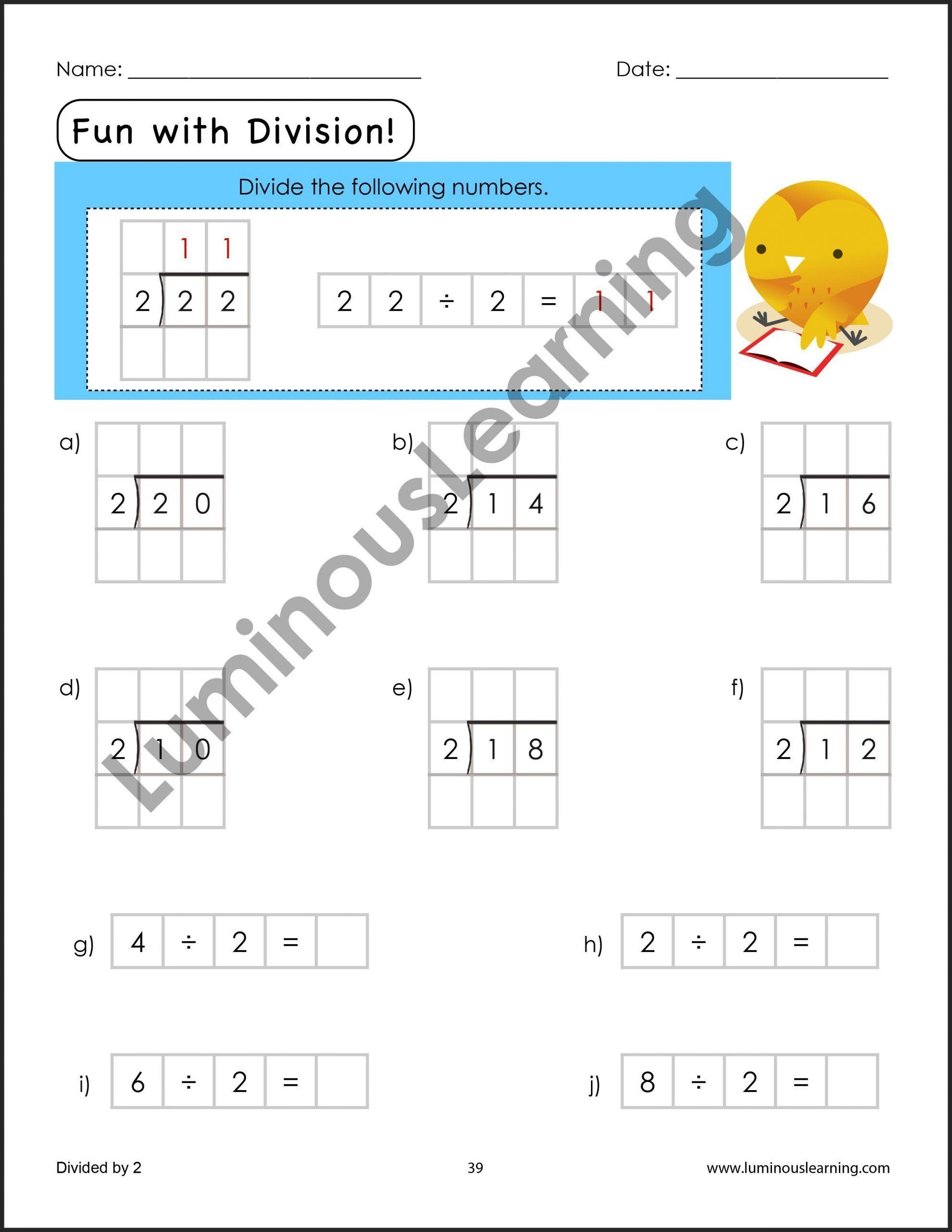 Arrays Worksheet 3rd Grade Division Worksheets For Grade 3
