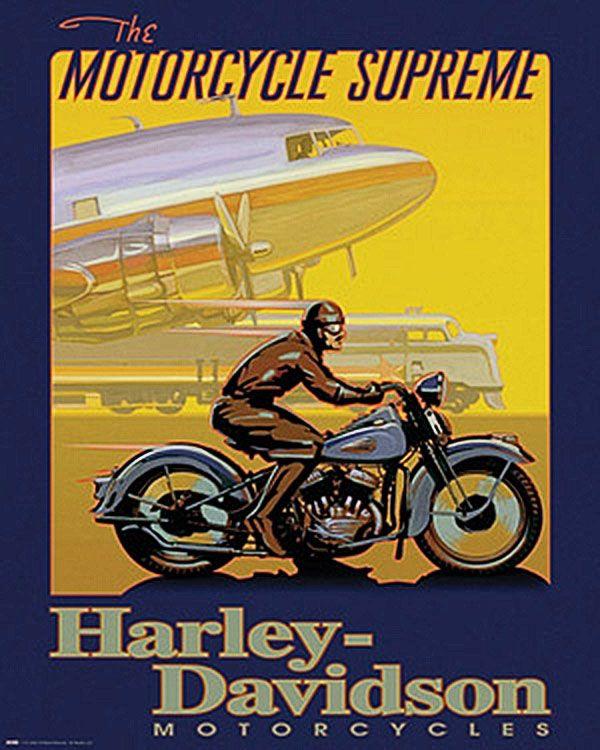 Motorcycle Supreme By David Uh Motorcycle Vintage Poster Vintage Motorcycle Posters Harley Davidson Art Harley Davidson Posters