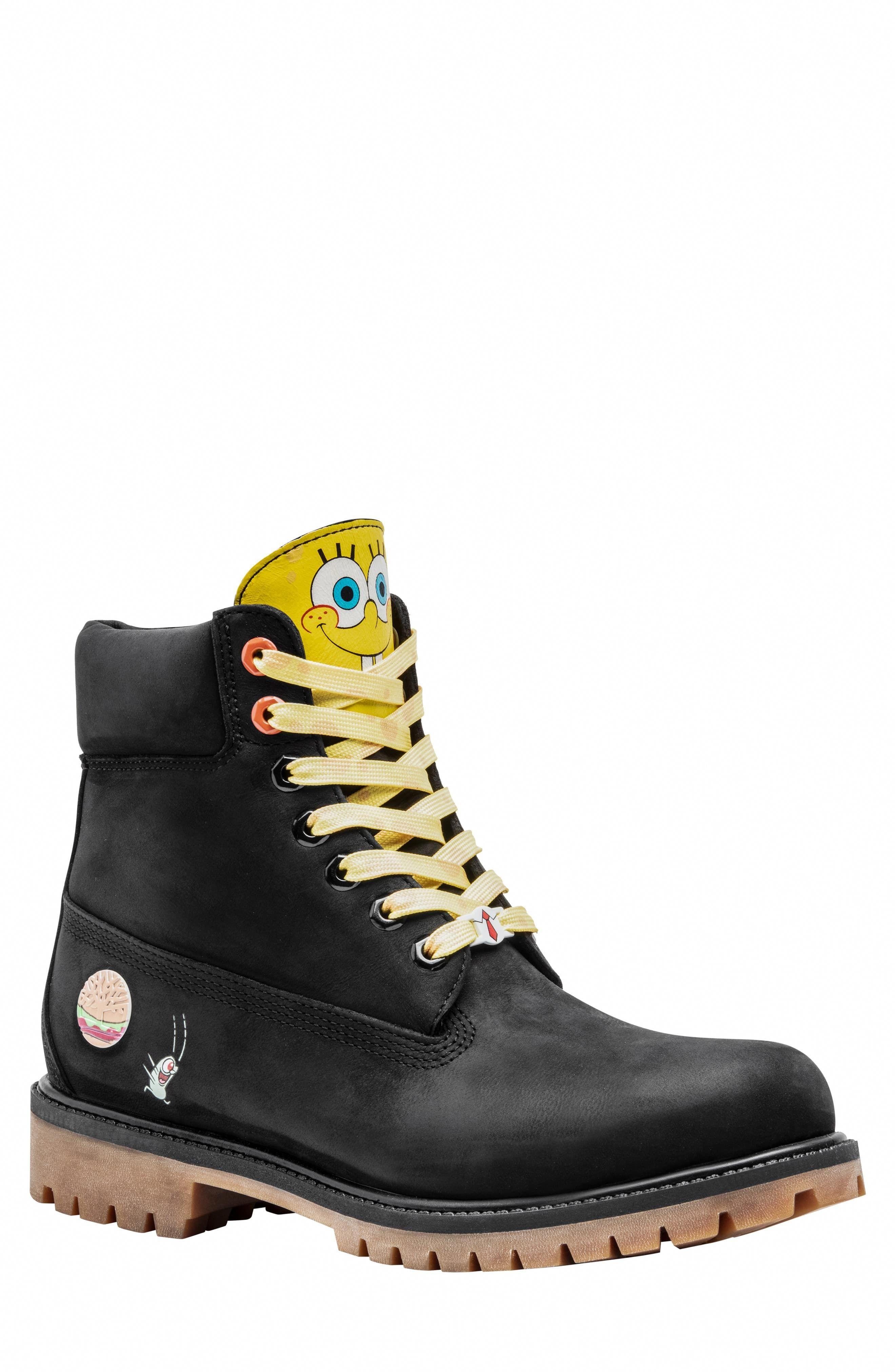 Spongebob Timberlands : spongebob, timberlands, Men's, Timberland, Spongebob, Waterproof, Plain, Boot,, Black, #timberlandbootsoutfitmens, Boots, Outfit, Mens,, Boots,