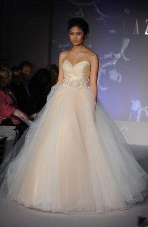Bridal gowns lazaro princess ball gown wedding dress with for Lazaro a line wedding dress