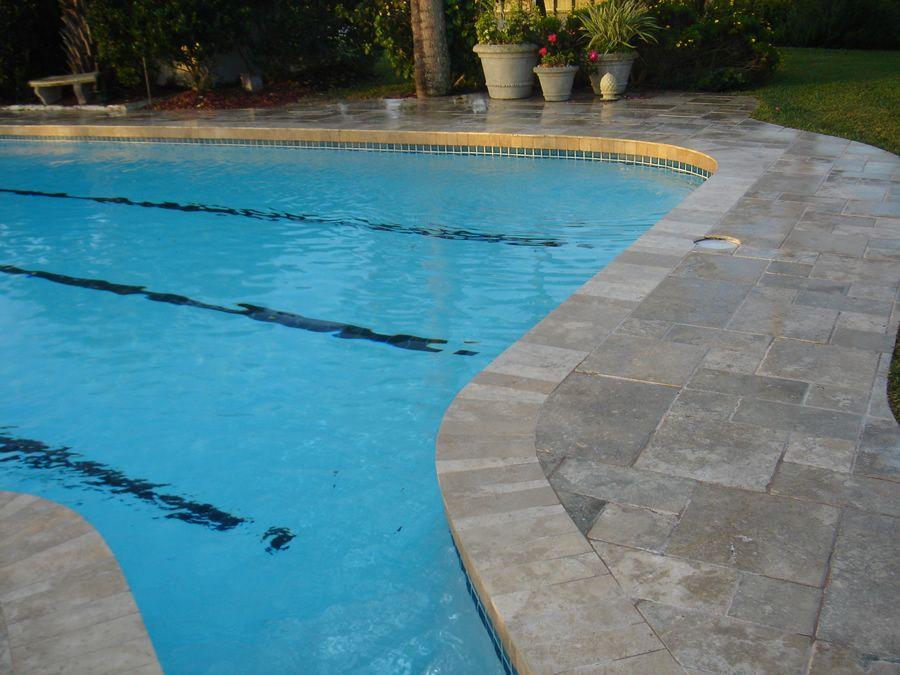 travertine pool decking | travertine deck gallery | pool