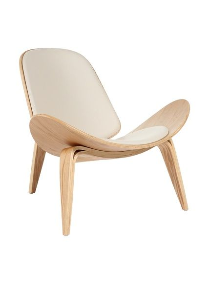 Control Brand Bishop Chair, White Iconic Design Features Wing Like Lines  And The Arching Curves Of Three Legs, Seat Height # #