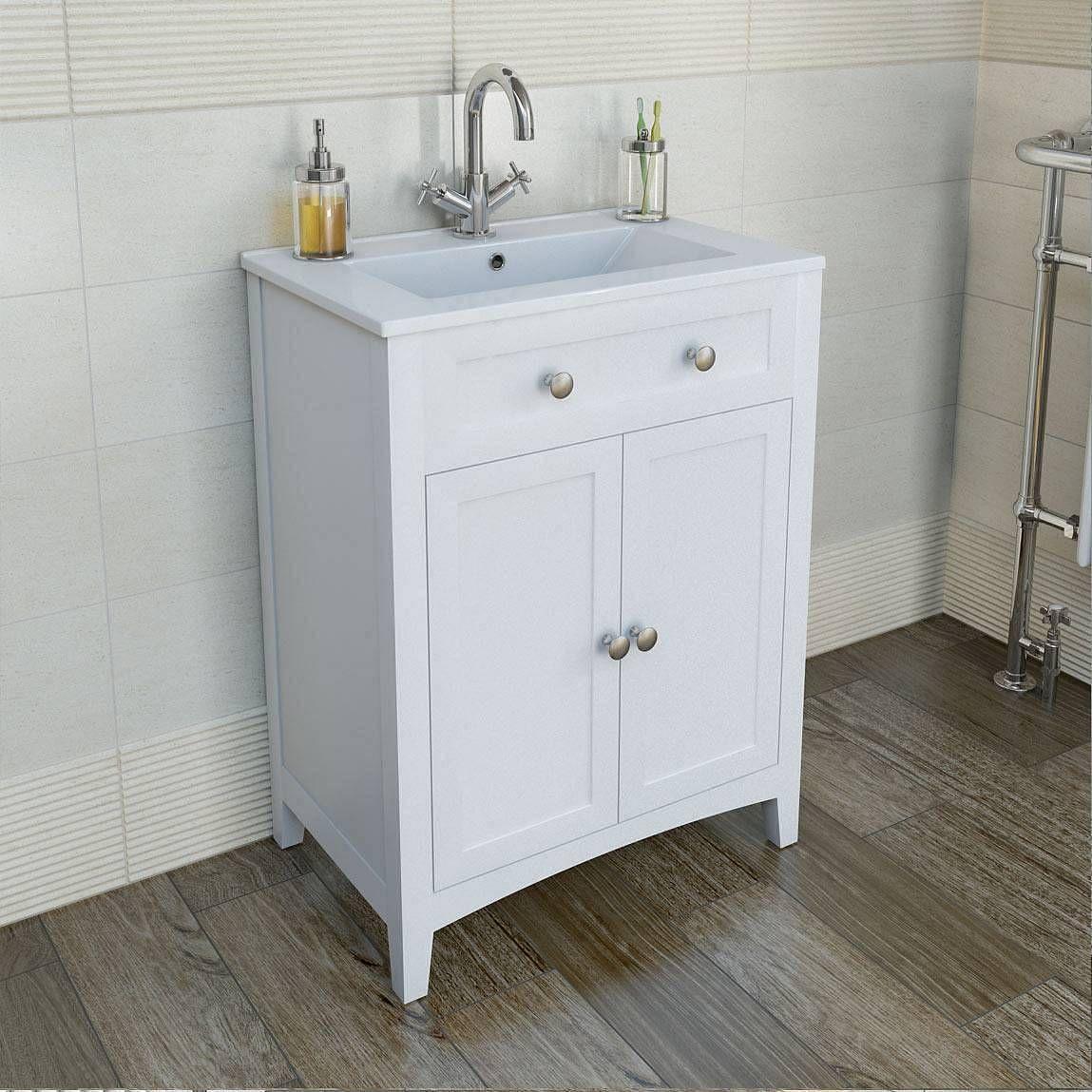 Camberley White Furniture Unit Basin Inc Alexa Mixer Tap Victoria Plumb