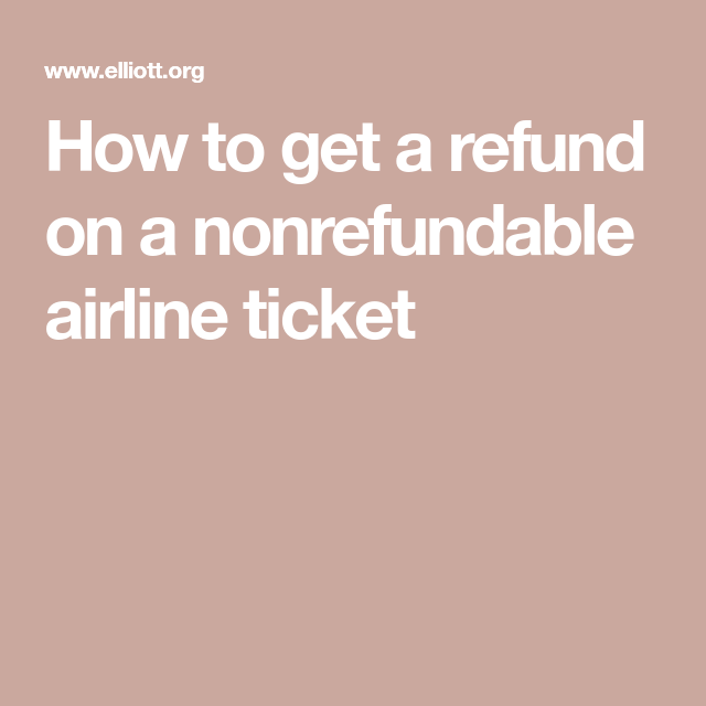 How To Get A Refund On An Airline Ticket