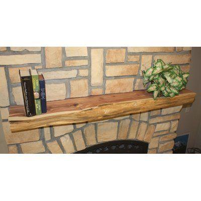 Kettle Moraine Hardwoods Fireplace Shelf Mantel Rustic Fireplace