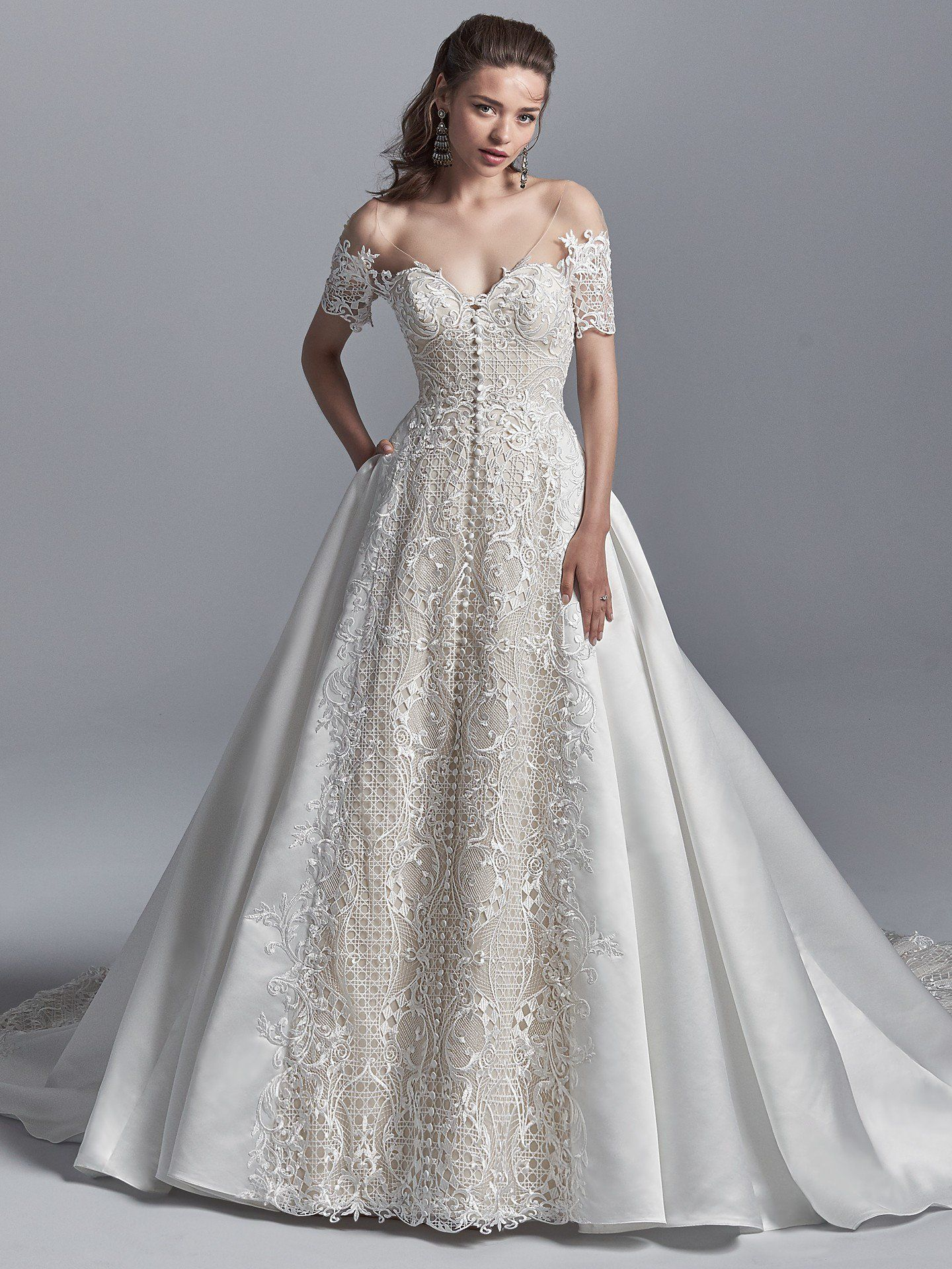Maggie sottero wedding dresses princess wedding dresses shoulder
