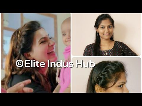 Actress samantha inspired hairstyle tutorial | Quick party hairstyle | - YouTube | Hair styles ...