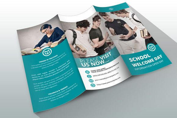 Check out Indesign Brochure Template School by Creative Template - free pamphlet templates