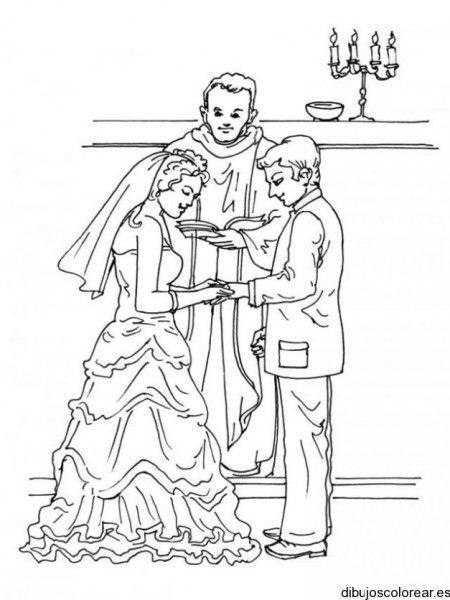 Dibujo de una boda religiosa | dibujos | Pinterest