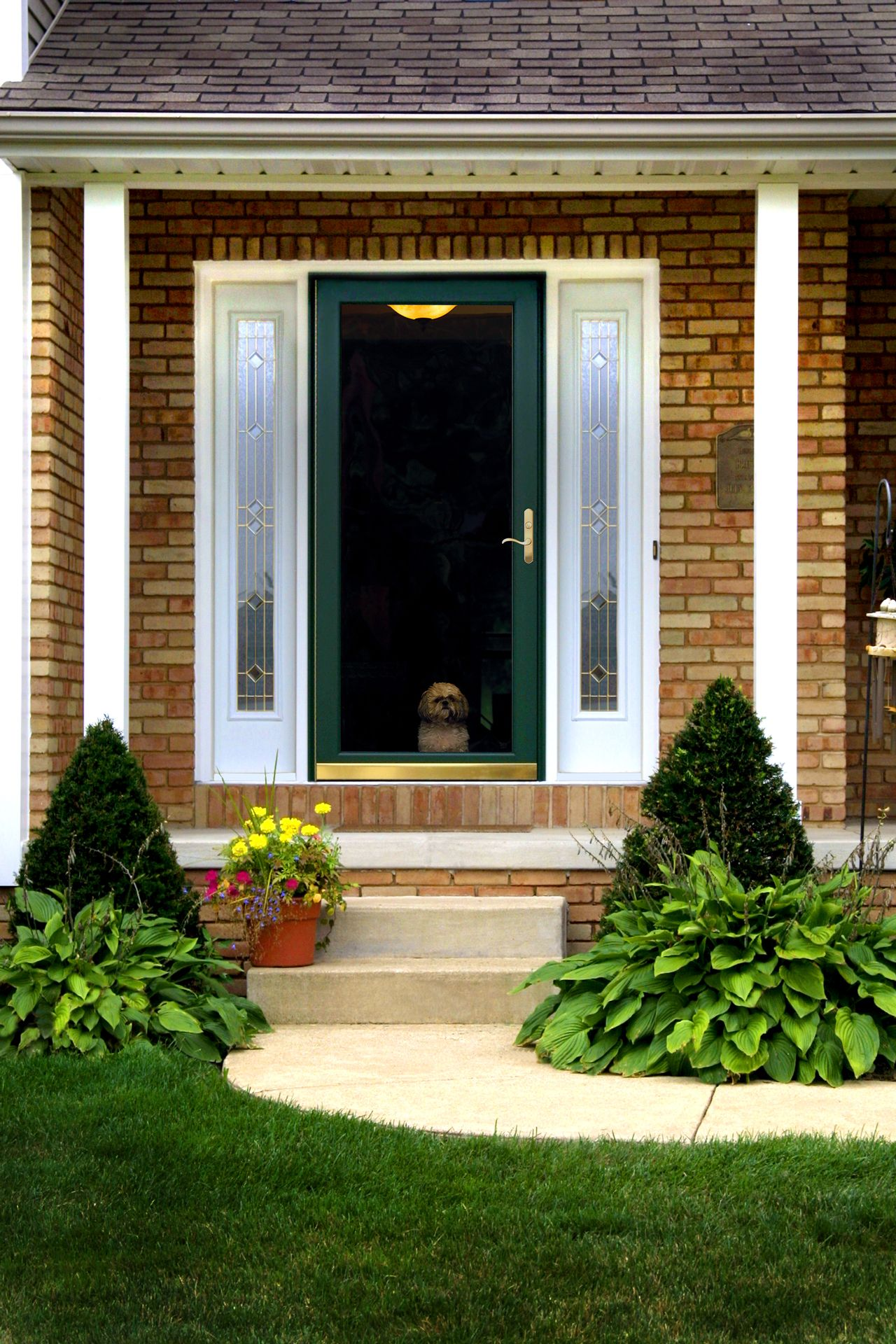 Front Doors With Storm Door get a door with added strength and elegance with a decorator storm