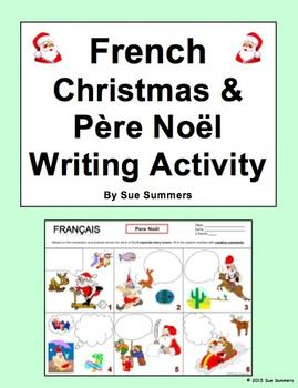 french christmas and pere noel writing activity french christmas activities and worksheets. Black Bedroom Furniture Sets. Home Design Ideas