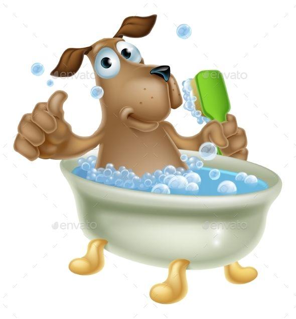 Dog Grooming Bath Cartoon Cartoon Dog Dog Grooming Cartoon Posters