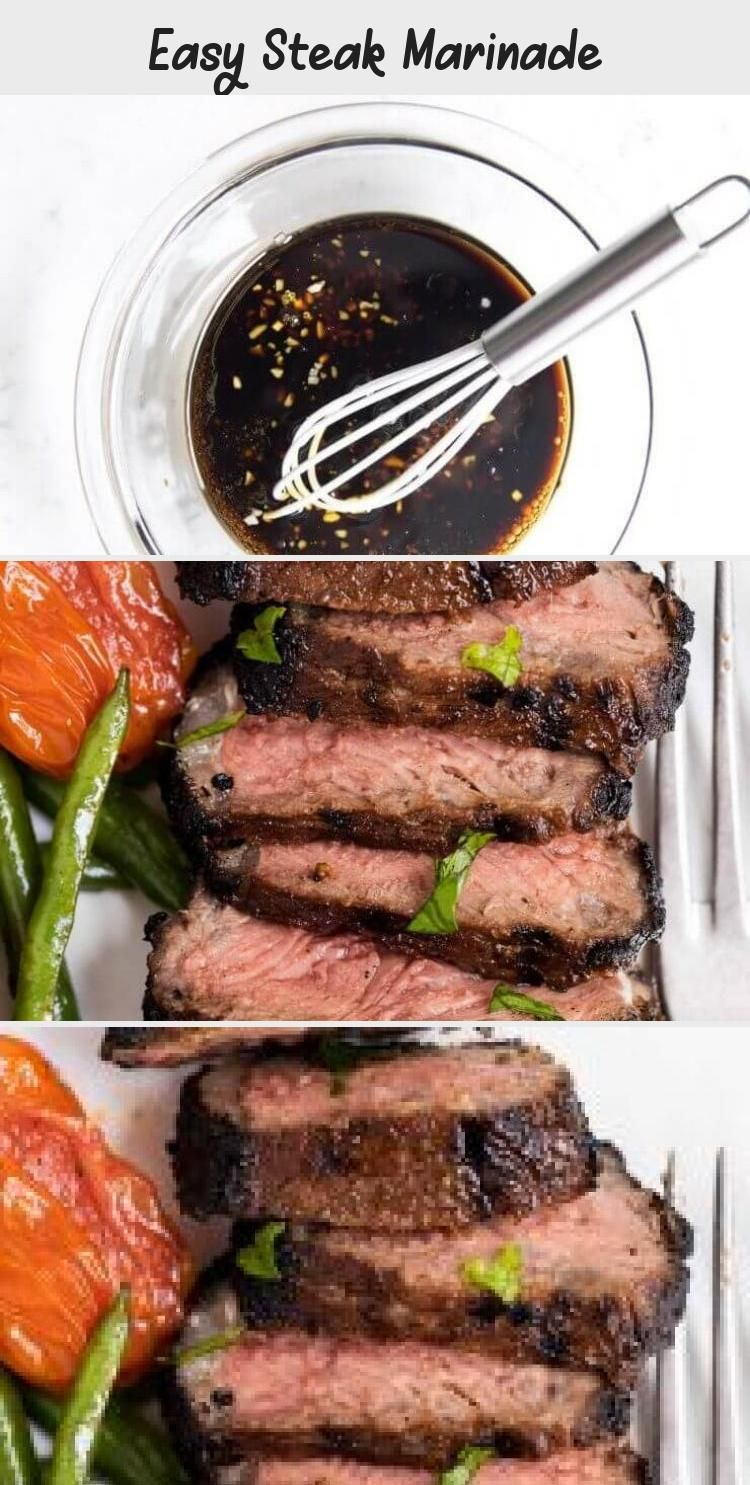 Easy Steak Marinade  Only 5 ingredients and 5 minutes of prep