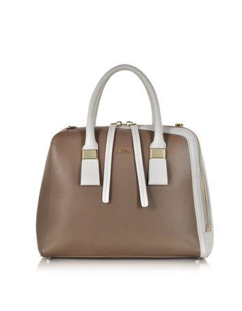 Furla Twiggy Colorblock Medium Leather Satchel- $598 on Forzieri