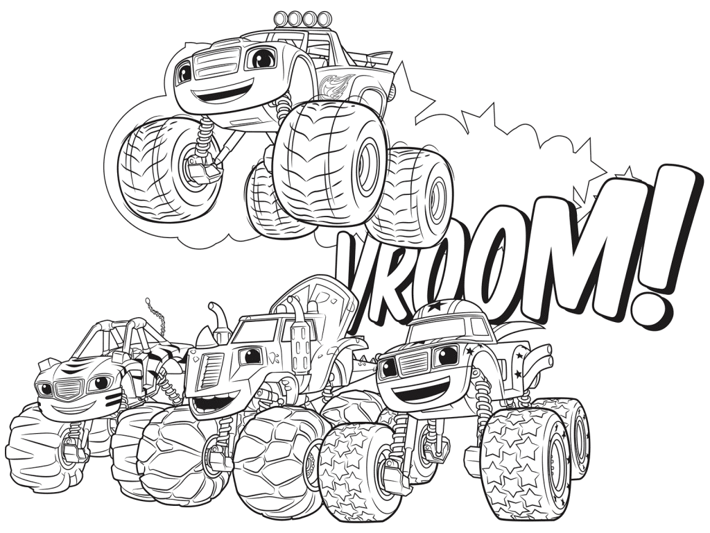 Blaze and the monster machines coloring pages best coloring pages for kids