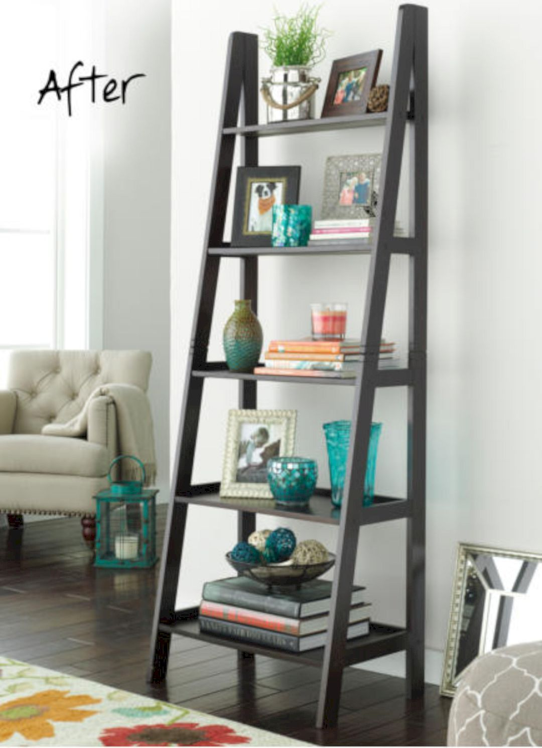 The Long Brick House A Retirement House With A Giant Bookshelf And Thick Brick Wall Ladder Shelf Decor Decor Bookshelf Decor