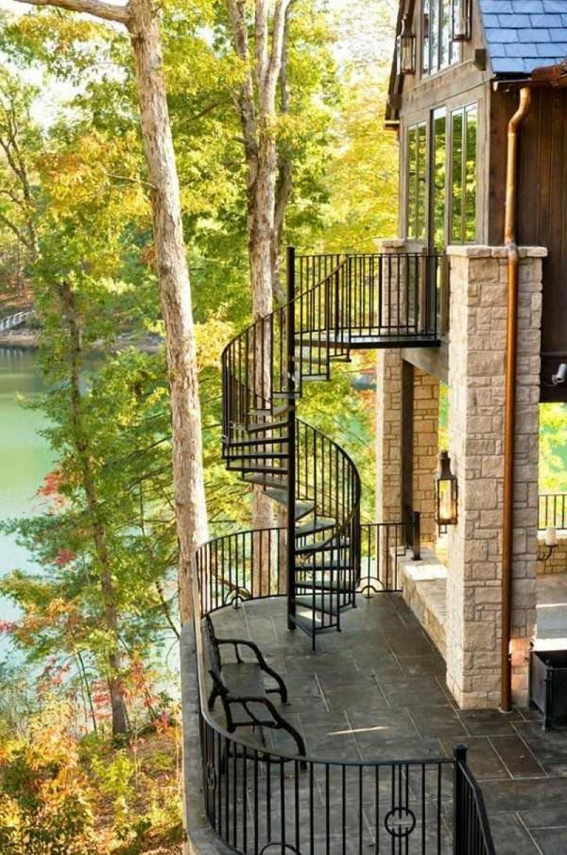 Best Gorgeous Best Outdoor Spiral Staircase Designs 400 x 300
