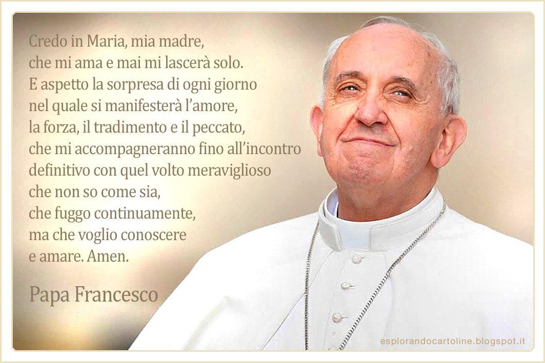 Alcune Frasi Di Papa Francesco Cartoline Da Scaricare Gratis