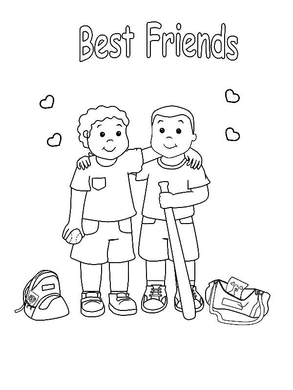 preschool coloring pages friends | Friendship Coloring Pages | Miscellaneous Coloring Pages ...